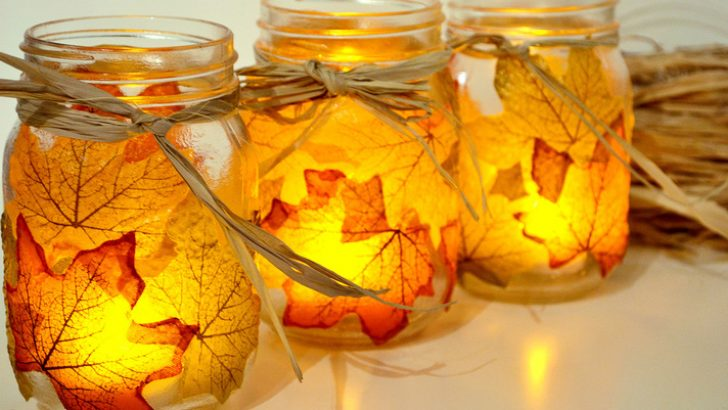 Tea Light (Candle Holder) Made of Dried Leaves