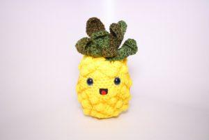 Pineapple Keychain Free Crochet Pattern | 201x300