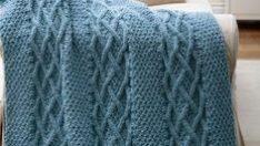 Knitting TV Blanket
