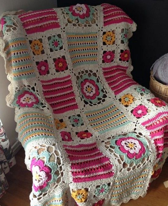 Patchwork Crochet Blanket Knittting Crochet Knittting Crochet