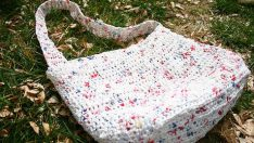 How to make new bags out of plastic bags?