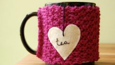 Knitting Coffee Cosies