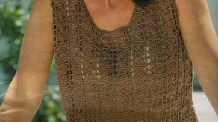 Crochet Shoulder Shirt Models