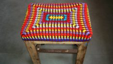 Crocheted Stool Covers