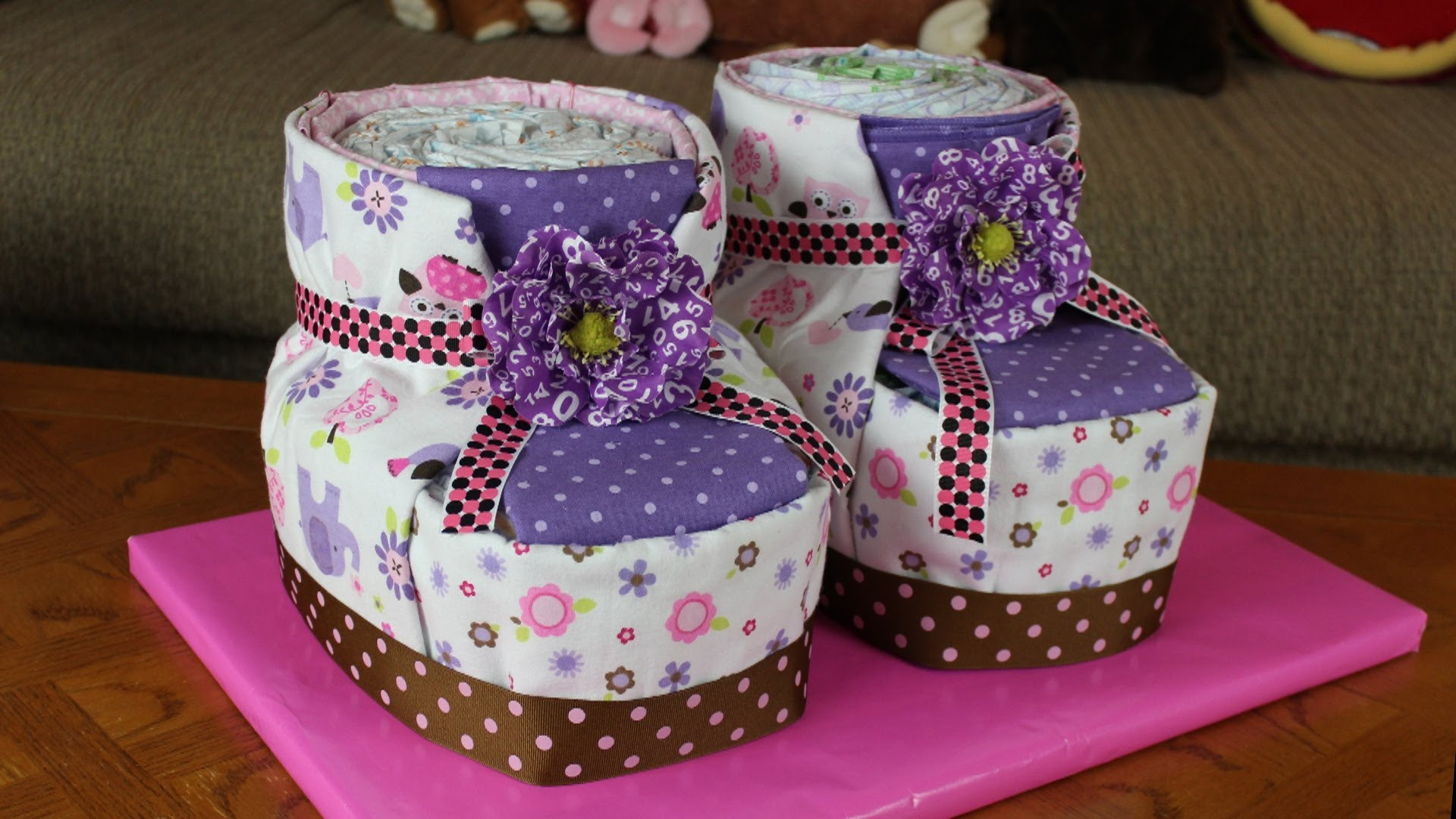 How Do I Make A Baby Carriage Diaper Cake