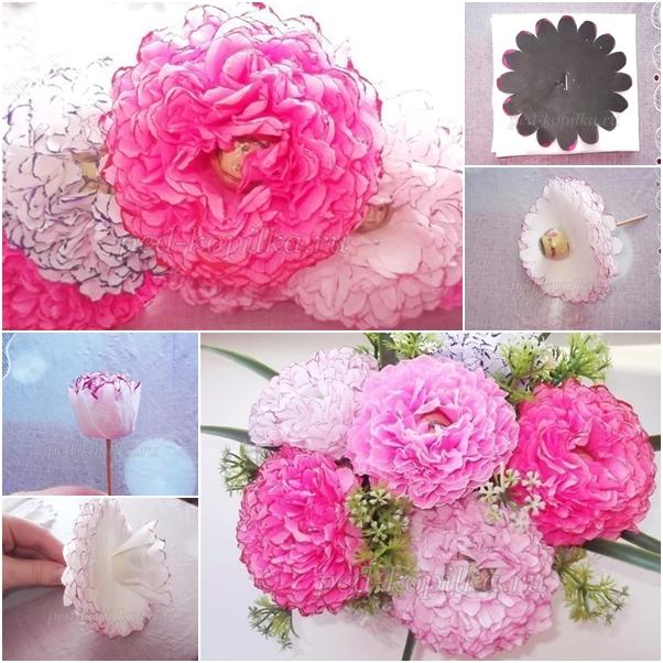 Make With Paper Flower Bouquet Knittting Crochet Knittting Crochet