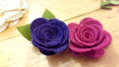 Rose Made of Felt