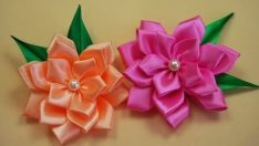 How to Ribbon Flowers?