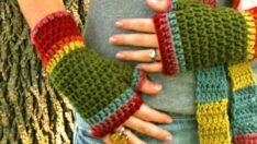 Hand Knit New Gloves Models