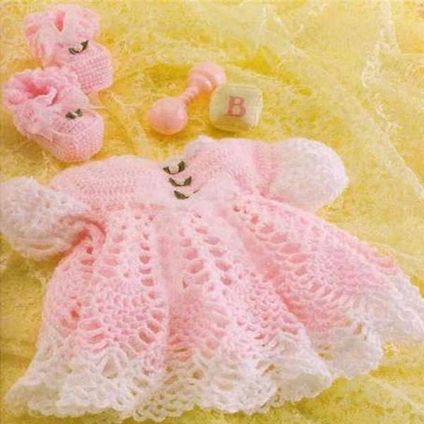 Платья крючком для новорожденных
