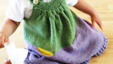 Knitted Baby Girl Clothes Models
