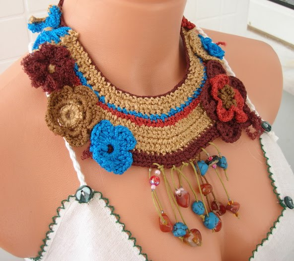 Knitted Necklace Patterns Knittting Crochet Knittting Crochet