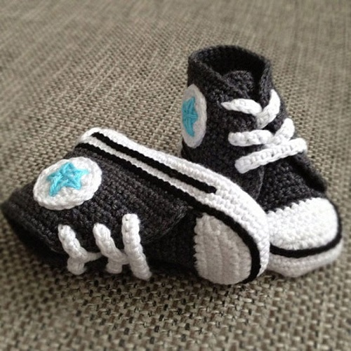 Converse Baby Booties Patterns - Knittting Crochet - Knittting Crochet