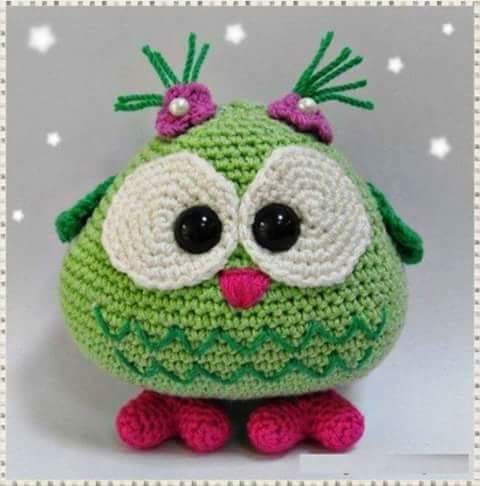 Free crochet pattern: Small amigurumi owls | 486x480