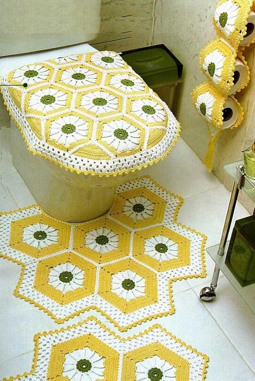 Вязание комплекта для ванной и туалета