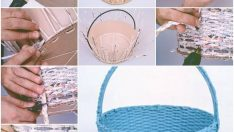 How to make a basket from old newspapers