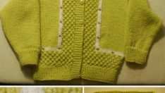 Baby knitted sweater free pattern
