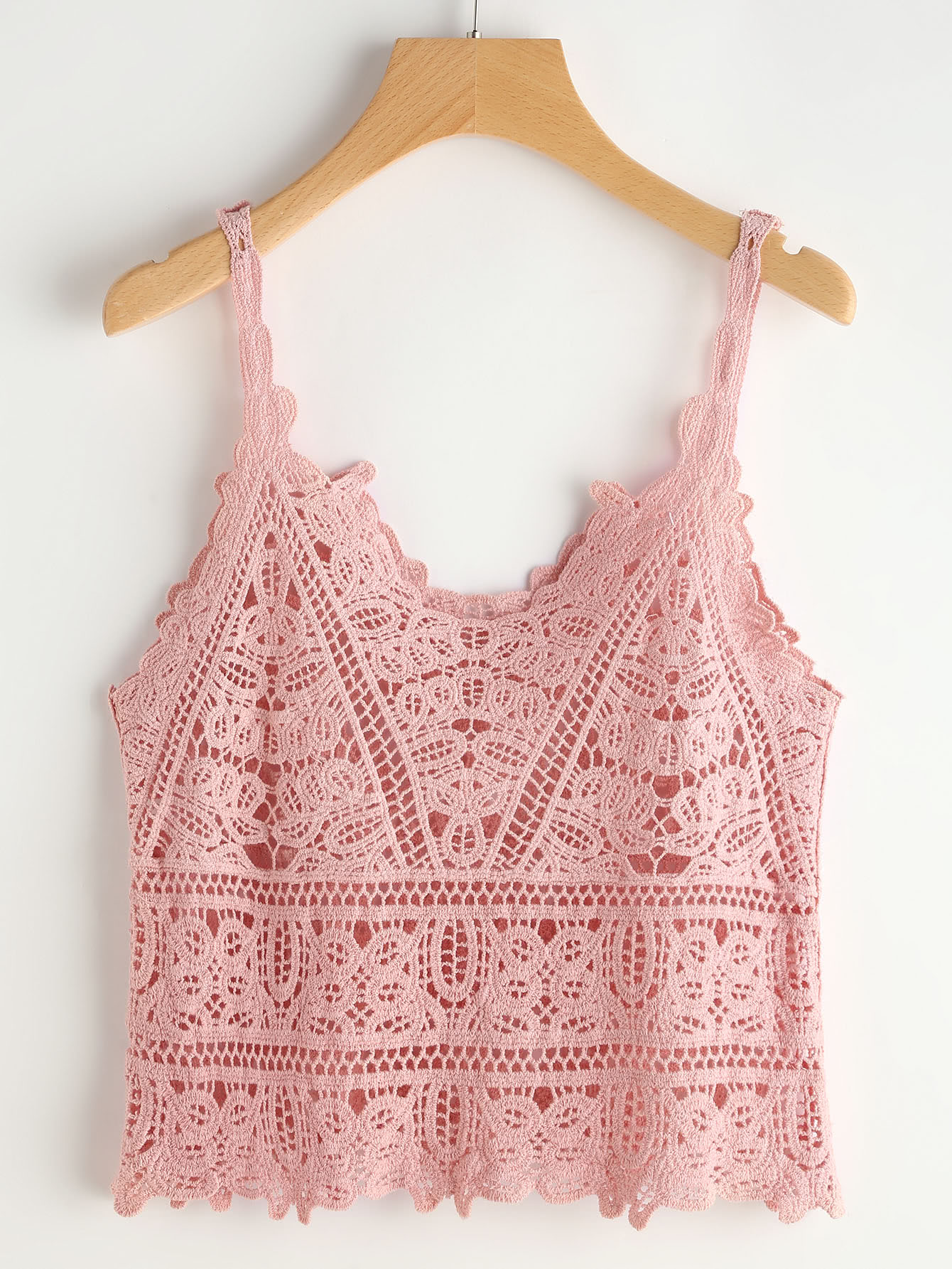 crochet lace cami top - knittting crochet