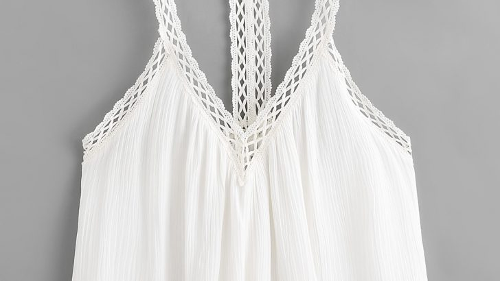 Crochet Trim Cami Top