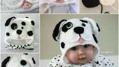 Crochet Dalmatian Dog Baby Hat