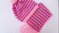 Crochet hat and scarf very easy free pattern videos