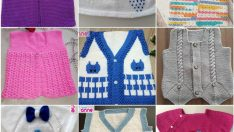 Knitted baby summer dresses +9 Free Patterns