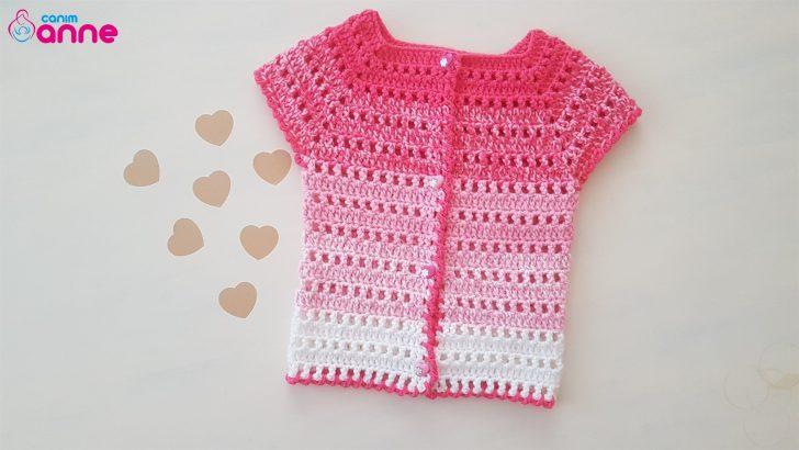 Gradient Baby Vest Free Pattern Crochet