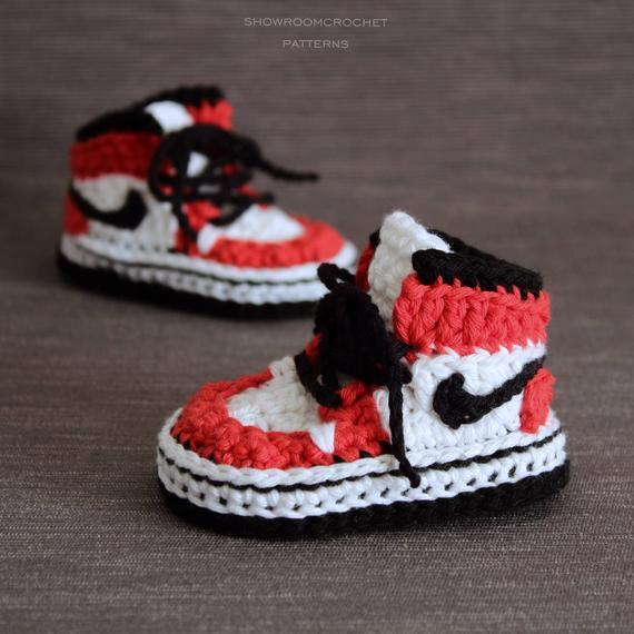 Nike Air jordan a crochet - Baby