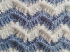 Blanket with Zig Zag Pattern Free