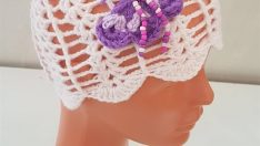 Crocheted Butterfly Baby Hat Free Pattern