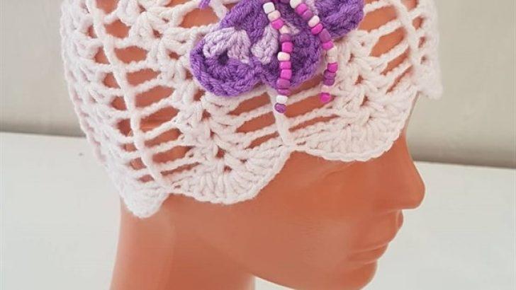 Crocheted Butterfly Baby Hat Free Pattern