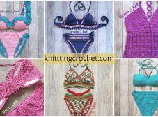 Most Beautiful Knit Bikini Bottom and Top Patterns
