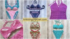 Most Beautiful Knit Bikini Bottom and Top Patterns