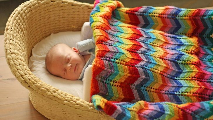 Easy to Knit Baby Blanket Patterns-4