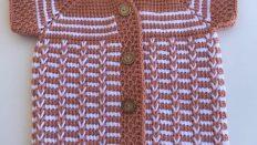 Goose foot baby vest free pattern Video