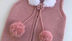 Pompom Baby Vest Free Pattern