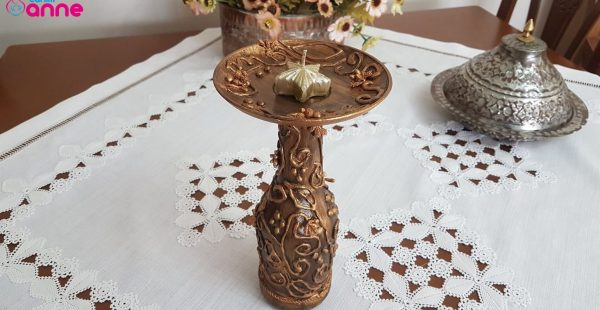 Recycled DIY Bottle Candle Holder – Candlestick