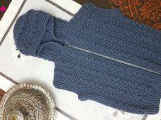 Knit Skewer Hooded Baby Vest Pattern Free Video